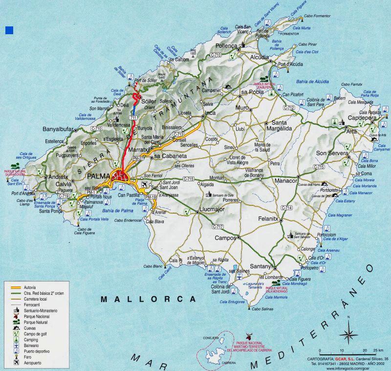 Evp Mallorca S Jernbaner Og Sporvej