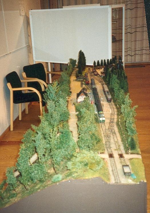 Modellen af Hareskov station ved udstillingen på Østerport st