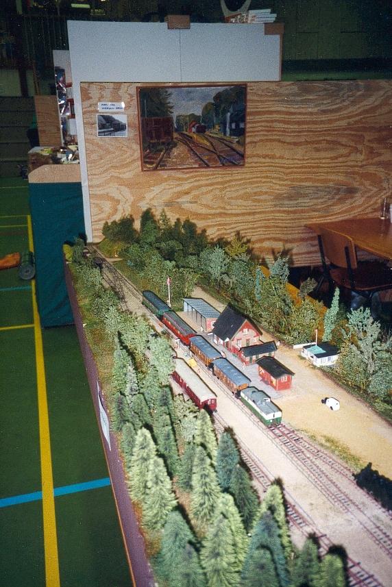 Modellen af Hareskov station ved udstillingen i Fredericia